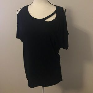 Chaser Cold-shoulder Cutout Tee NWOT